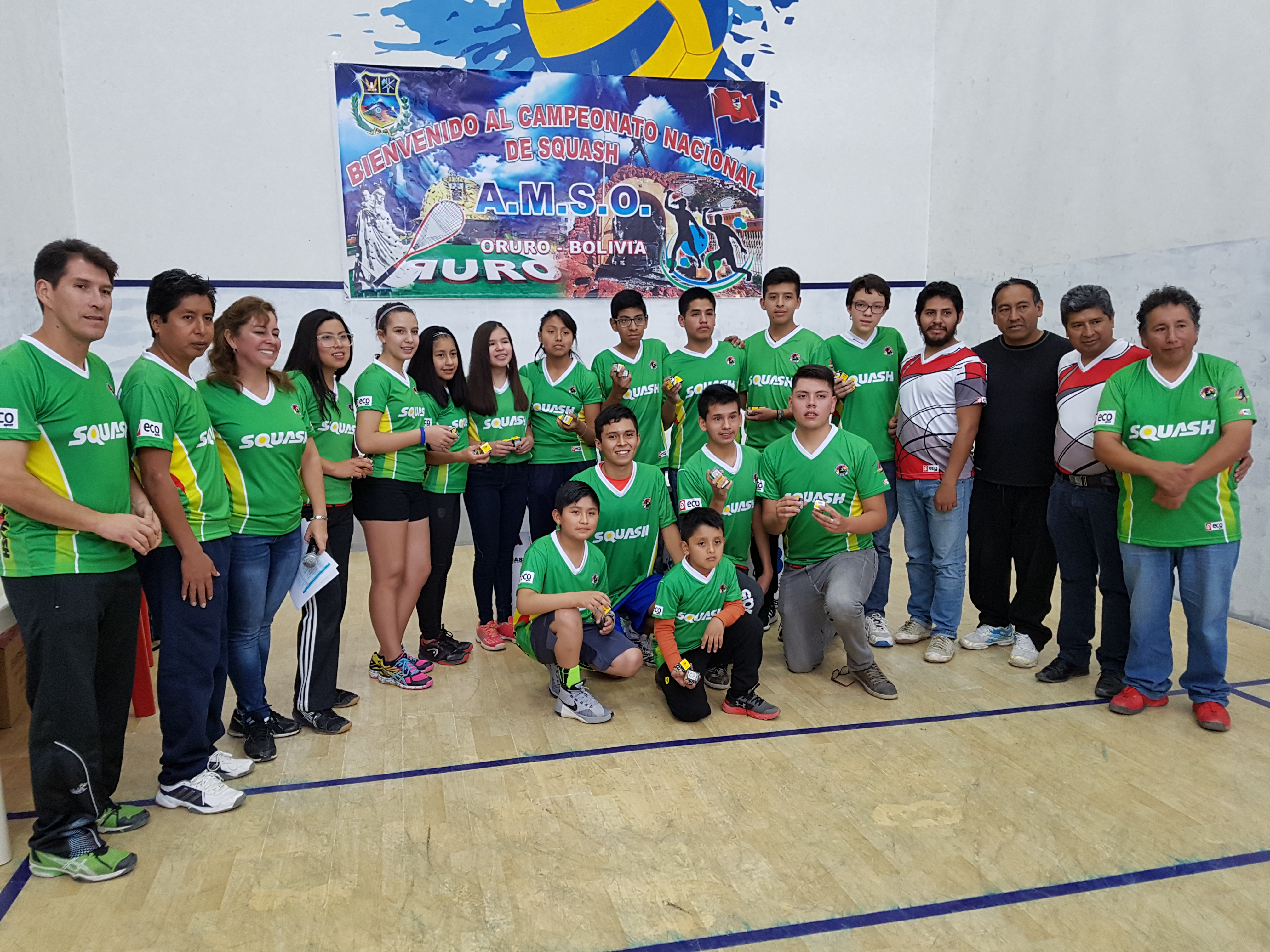 Bolivia presente en el Sudamericano Juvenil de Squash Lima 2018