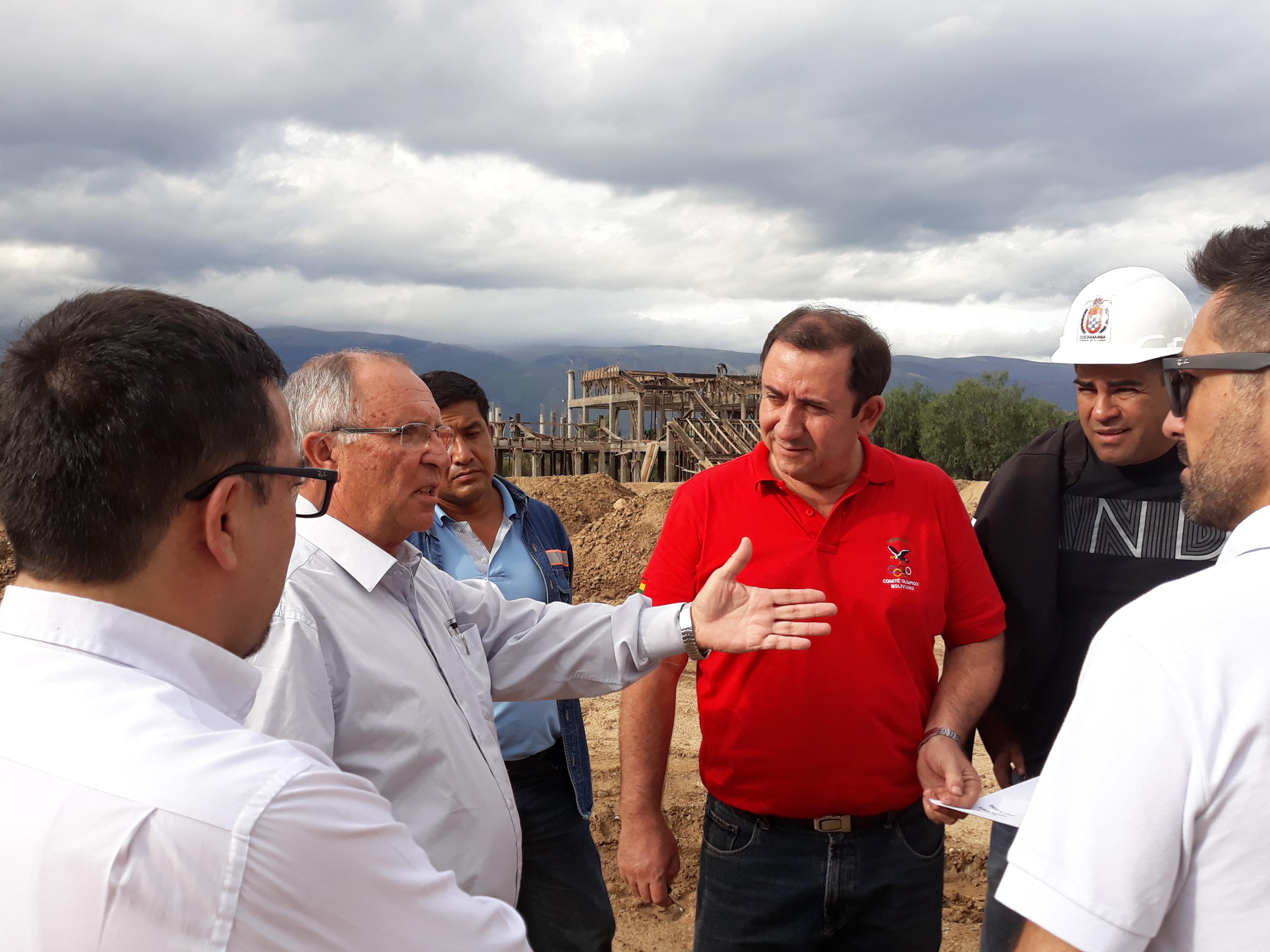 Comité Olímpico Boliviano visita escenarios junto a personeros de ODESUR y la Alcaldia