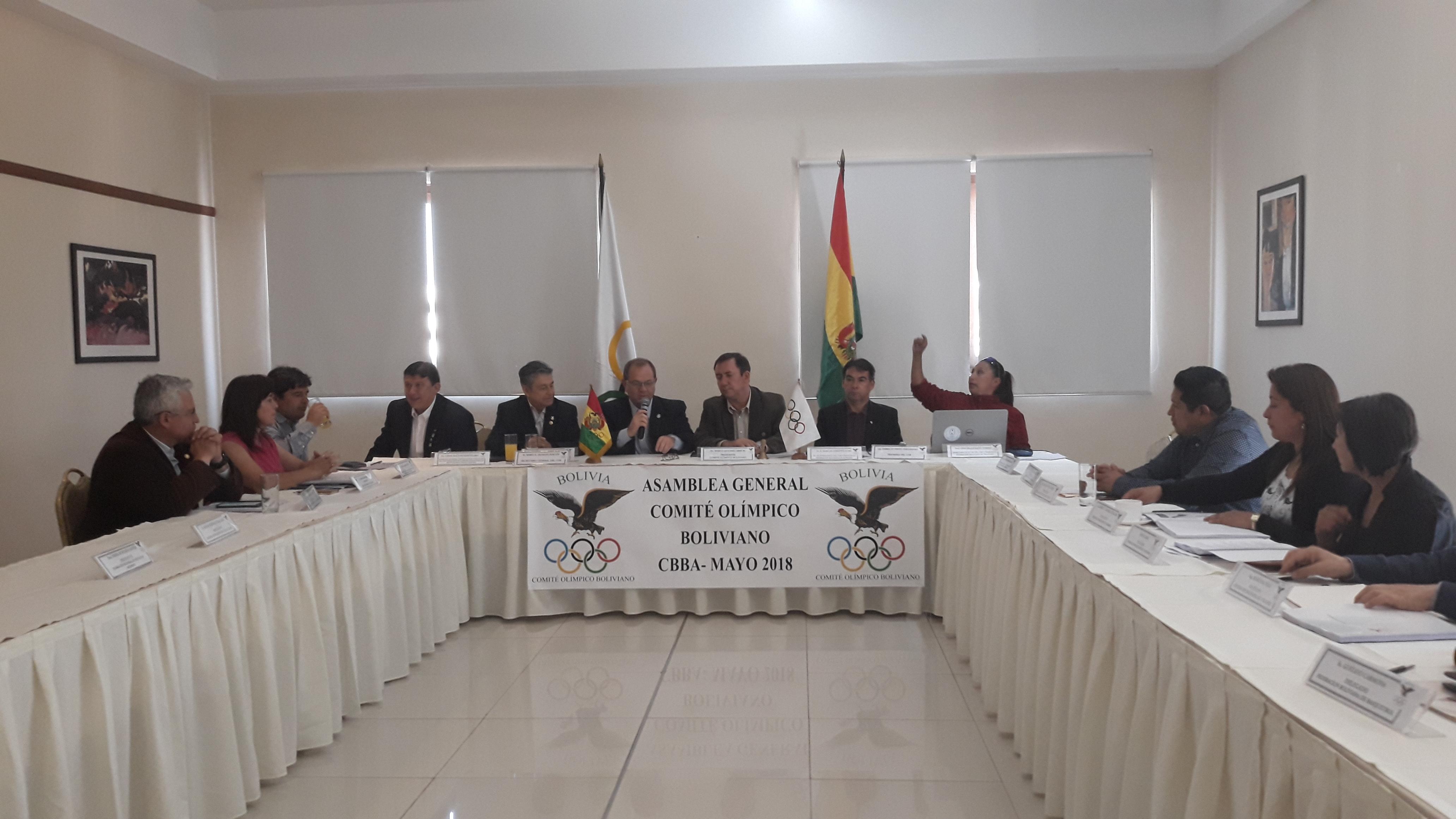 Se realizó  Asamblea del Comité Olímpico Boliviano