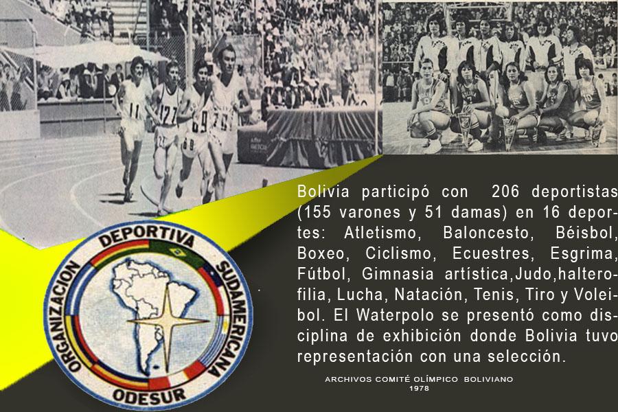 JUEGOS CRUZ DEL SUR 1978 (JUEGOS SURAMERICANOS )