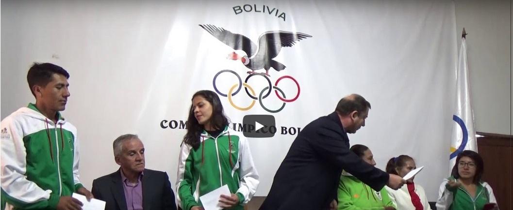 Deportistas agradecen las becas de solidaridad olímpica