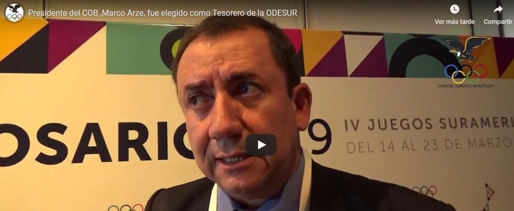 Presidente del COB,Marco Arze, fue elegido como Tesorero de la ODESUR