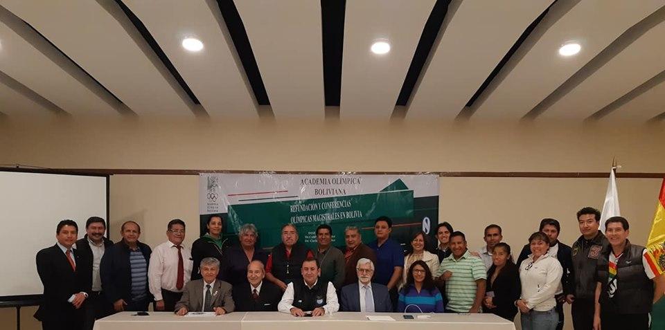 Culminó con éxito las Conferencias Olímpicas Magistrales en Bolivia