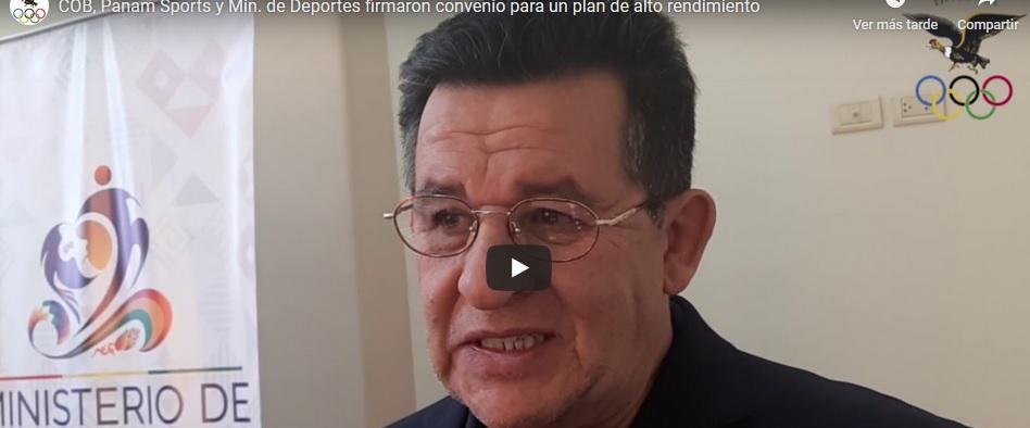 COB,PANAM SPORTS Y MINISTERIO DE DEPORTES,FIRMAN CONVENIO PARA LA IMPLEMENTACIÓN DE UN PLAN DE ALTO RENDIMIENTO EN EL PAÍS