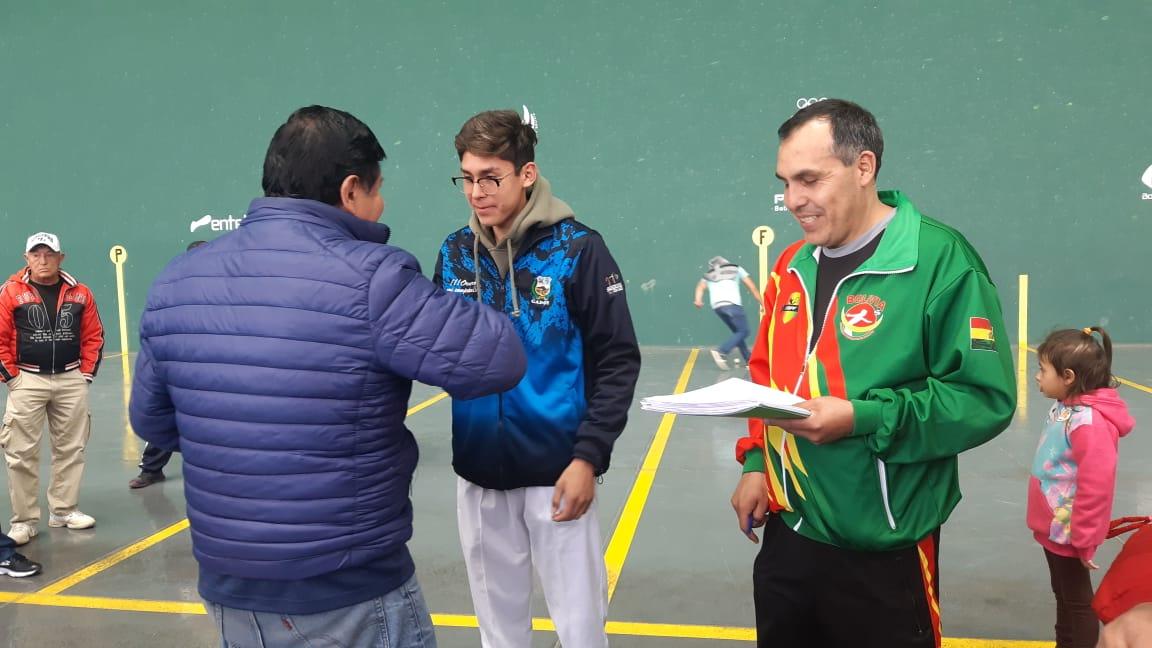 Santa Cruz quedó en primer lugar en el Nacional de Pelota Vasca