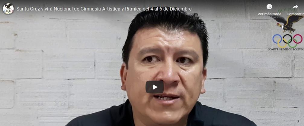 Santa Cruz vivirá nacional de Gimnasia artística y rítmica del 4 al 8 de diciembre