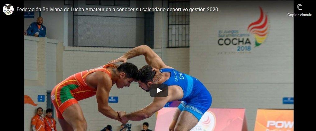 Federación Boliviana de Lucha Amateur, da a conocer su calendario deportivo gestión 2020