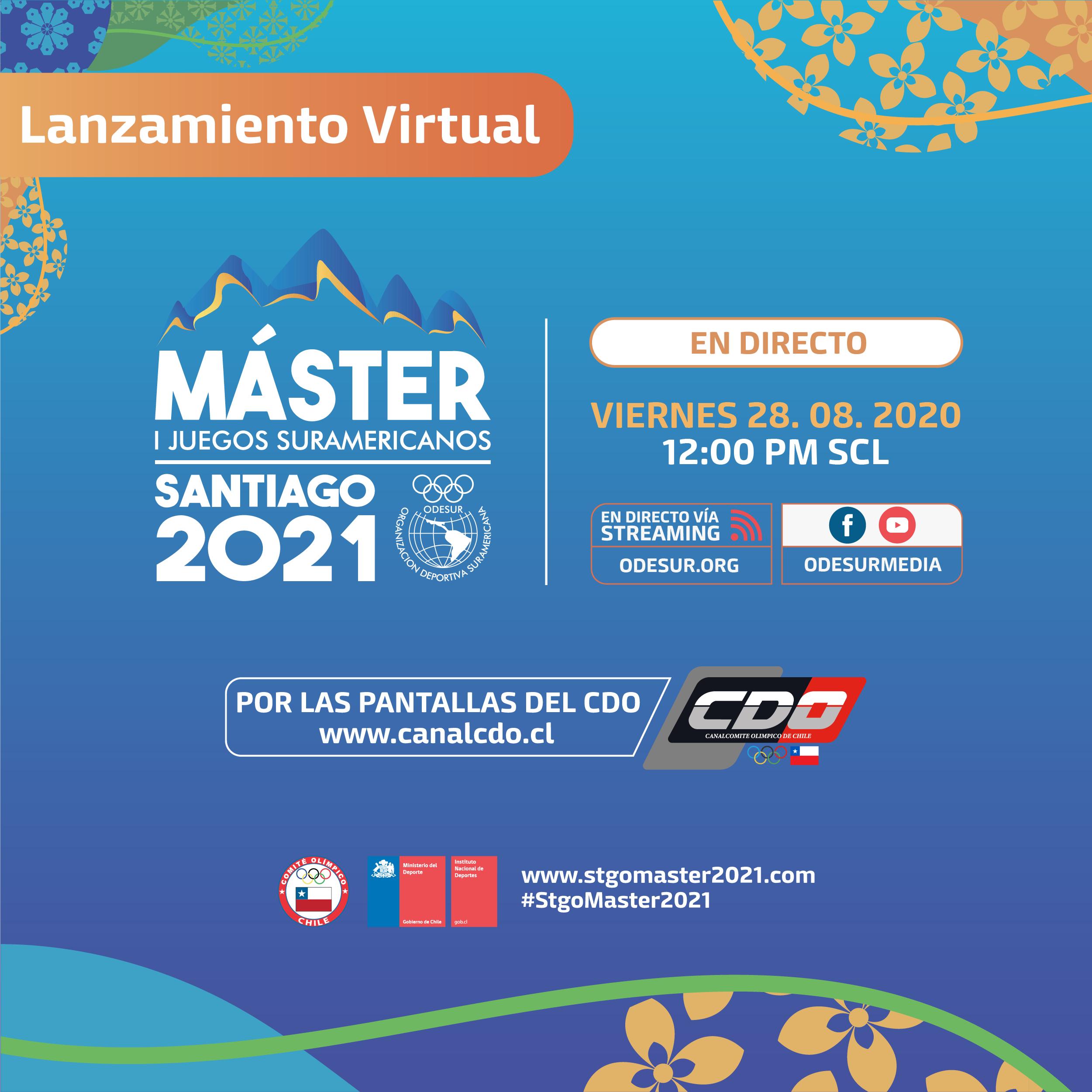 Este viernes se realizará el lanzamiento de los I Juegos Master Santiago 2021