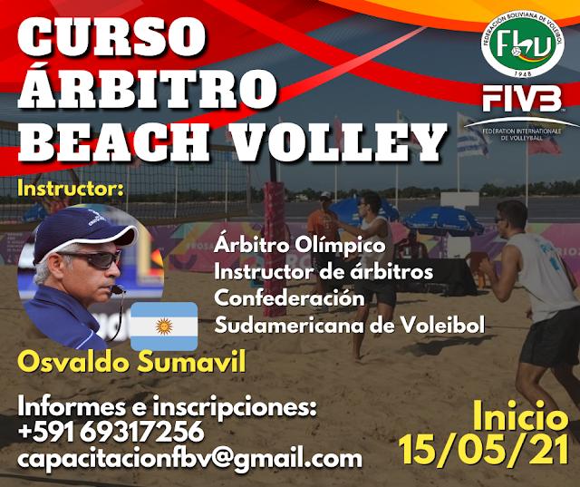 La Federación Boliviana de Voleibol (FBV), lanzó convocatoria al Curso Nacional de Árbitro de Beach Volley